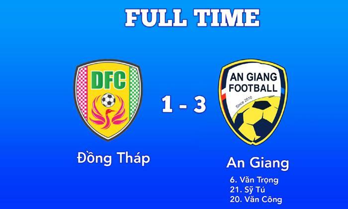 Kết quả bóng đá Hạng Nhất Việt Nam 2020 hôm nay 25/7: Đồng Tháp 1-3 An Giang