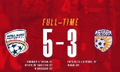 Adelaide United 5-3 Perth Glory: Cân bằng điểm số